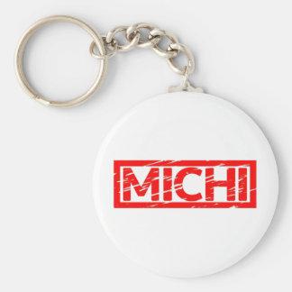 Michi Briefmarke Standard Runder Schlüsselanhänger