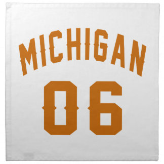 Michigan 06 Geburtstags-Entwürfe Serviette