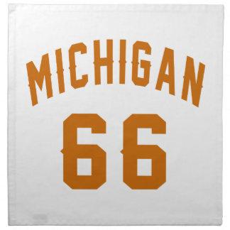 Michigan 66 Geburtstags-Entwürfe Serviette