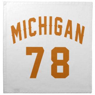Michigan 78 Geburtstags-Entwürfe Serviette
