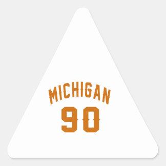 Michigan 90 Geburtstags-Entwürfe Dreieckiger Aufkleber