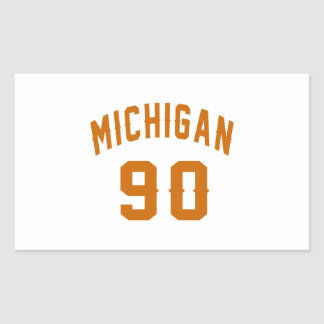 Michigan 90 Geburtstags-Entwürfe Rechteckiger Aufkleber