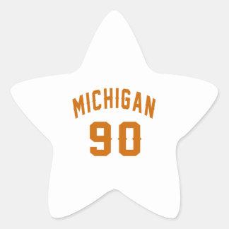 Michigan 90 Geburtstags-Entwürfe Stern-Aufkleber