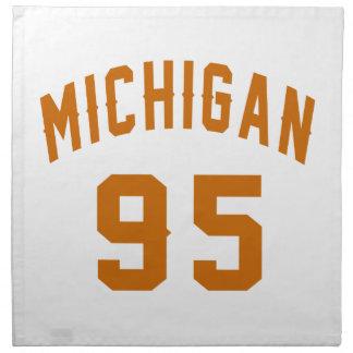 Michigan 95 Geburtstags-Entwürfe Stoffserviette