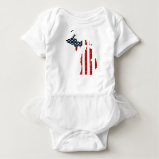 Michigan-amerikanische Flagge Baby Strampler