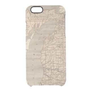 Michigan-Atlas-Karte Durchsichtige iPhone 6/6S Hülle