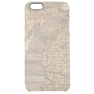 Michigan-Atlas-Karte Durchsichtige iPhone 6 Plus Hülle