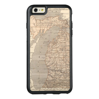 Michigan-Atlas-Karte OtterBox iPhone 6/6s Plus Hülle