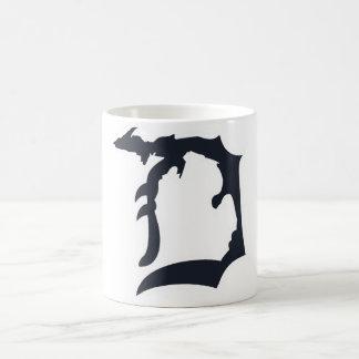 "Michigan Detroit ""D"" mit der oberen Kaffeetasse"
