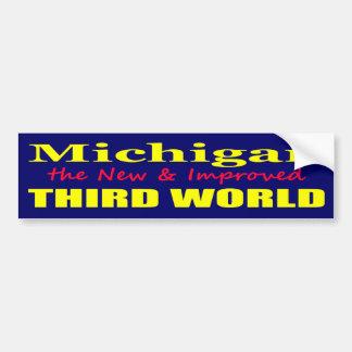 Michigan die neue u. verbesserte DRITTE WELT Autosticker