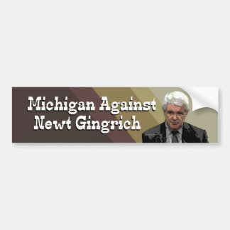 Michigan gegen Newt- GingrichAutoaufkleber Autoaufkleber