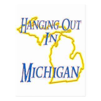 Michigan - heraus hängend postkarte