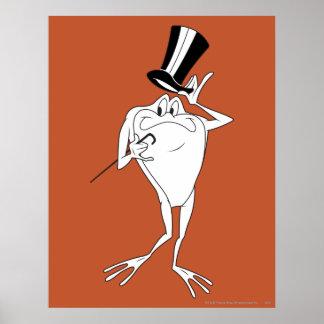 Michigan J. Frog Happy Plakatdruck