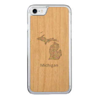 Michigan-Karte Carved iPhone 8/7 Hülle