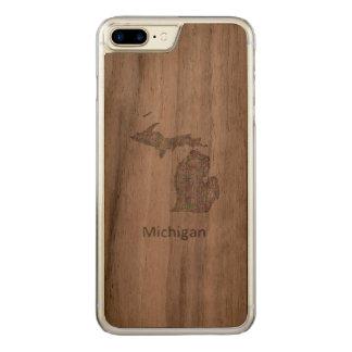 Michigan-Karte Carved iPhone 8 Plus/7 Plus Hülle