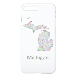 Michigan-Karte iPhone 8 Plus/7 Plus Hülle