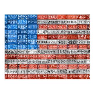 Michigan-Kfz-Kennzeichen-Flagge von USA-Postkarte Postkarte