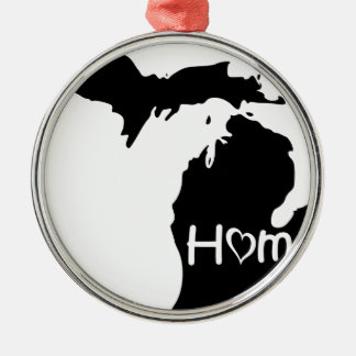 Michigan Silbernes Ornament