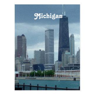Michigan-Skyline Postkarte