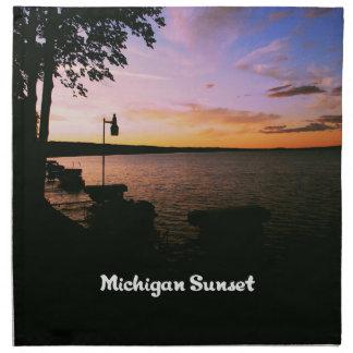 Michigan-Sonnenuntergang Stoffserviette