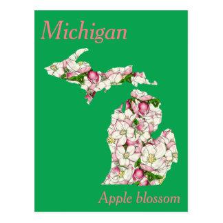 Michigan-Staats-Blumen-Collagen-Karte Postkarten