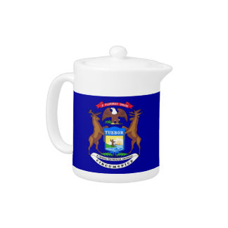 Michigan-Staats-Flaggen-Teekanne