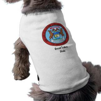 Michigan-Staats-Siegel und Motto Shirt