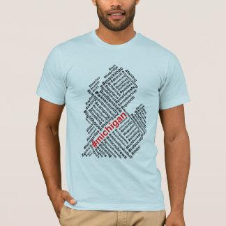 Michigan-Umbau-Wolke - schwarzer Text T-Shirt
