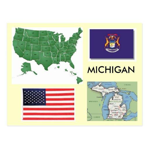 Michigan, USA Postkarte