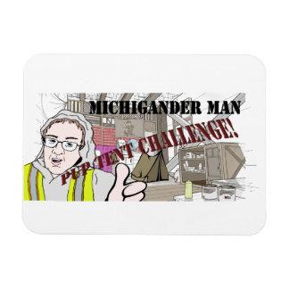 Michigander Mann-Welpen-Zelt-Herausforderung!!! Magnet