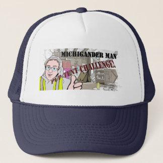 Michigander Mann-Welpen-Zelt-Herausforderung!!! Truckerkappe