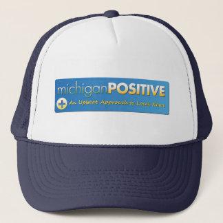MichiganPositive Logo-Maschen-Hut Truckerkappe