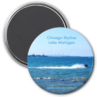 Michigansee Runder Magnet 7,6 Cm