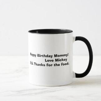 mickey bw, alles- Gute zum Geburtstagmama!         Tasse