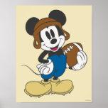 Mickey Mouse-Fußball-Spieler 3 Posterdrucke