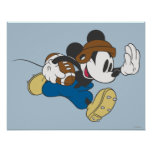 Mickey Mouse-Fußball-Spieler 4 Posterdruck
