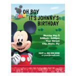 Mickey Mouse-Geburtstags-Einladung