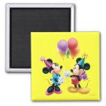 Mickey Mouse u. Minnie Geburtstag Kühlschrankmagnete