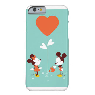 Mickey u. Minnie Watercolor-Raum-weiche Barely There iPhone 6 Hülle