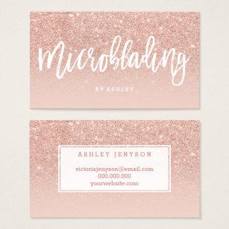 Microblading elegante Typografie erröten Rosengold Visitenkarte