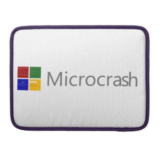 Microcrash Schirm des Todeslogos MacBook Pro Sleeve