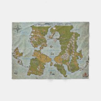 Midgard Karte Fleecedecke