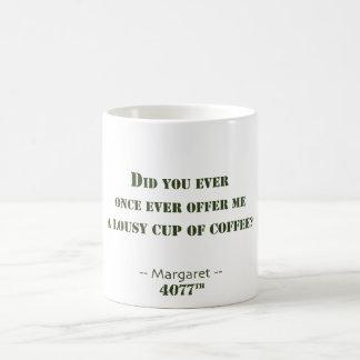 Mieser Tasse Kaffee