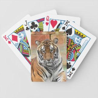 Mieten Tigres in der Betrachtung Bicycle Spielkarten