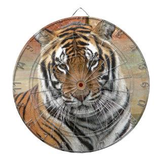 Mieten Tigres in der Betrachtung Dartscheibe