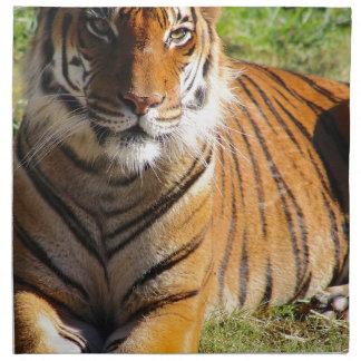 Mietmalaiischer Tiger Stoffserviette