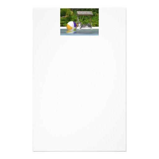 Miezekatze an der See-Seite Personalisierte Büropapiere