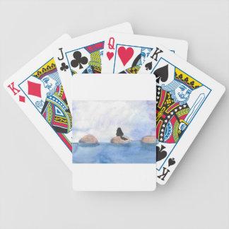 Miezekatze auf Sprungbrett Bicycle Spielkarten