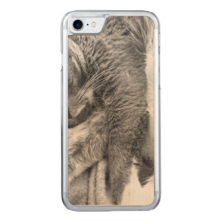 Miezekatze entspannen sich carved iPhone 8/7 hülle
