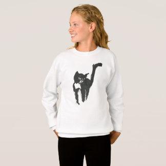 Miezekatze-Gekritzel-Kunst Sweatshirt